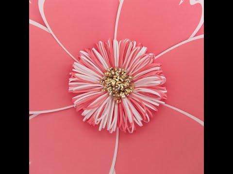 DIY Fluffy Paper Flower Center - Style 4