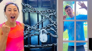 I LOCKED CARTER OUT OF HIS HOUSE!!