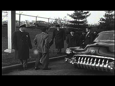 Representatives of China arrive at United Nations Headquarters at Lake Success, N...HD Stock Footage