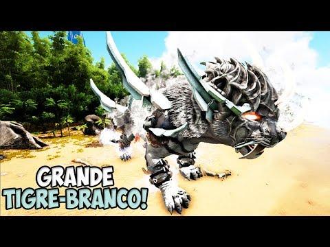 TIVEMOS QUE PEDIR AJUDA AO GRANDE TIGRE-BRANCO !! - ARK MUNDO PERDIDO