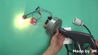 Vacuum Cleaner Motor Generator Experiment