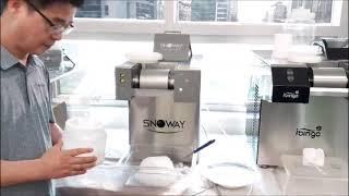 스노웨이 미니에스3, 눈꽃빙수기 시연 비디오, SNOW…