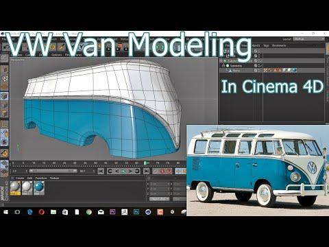 Cinema 4D Modeling a vintage Volkswagen Van