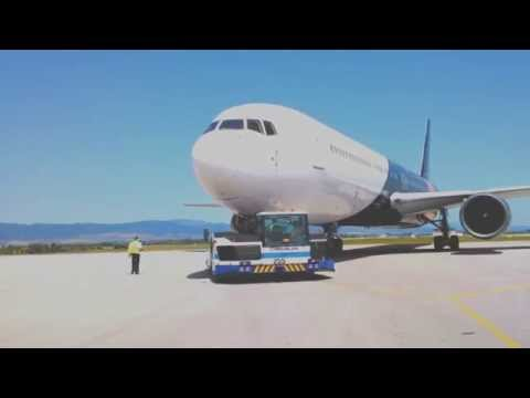 Sofia Airport - Wide Body Aircraft Pushback B767