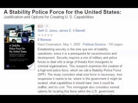 A Stability Police Force for the United States