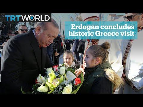 Erdogan concludes visit to Greece