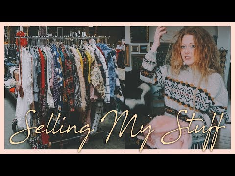 Selling my clothes on a market
