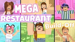 MEGA Restaurant Build-Off! Panda V.s. 5 Fans!!