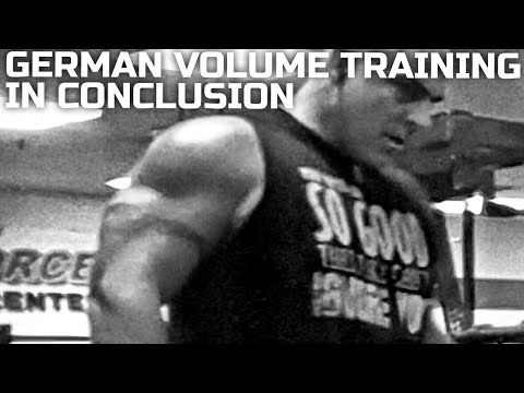 German Volume Training In Conclusion