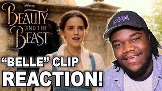belle clip disneys beauty and the beast reaction