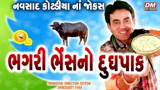 Gujarati Jokes - Navsad Kotadiya - ભગરી ભેંસ નો દુધપાક - New Comedy