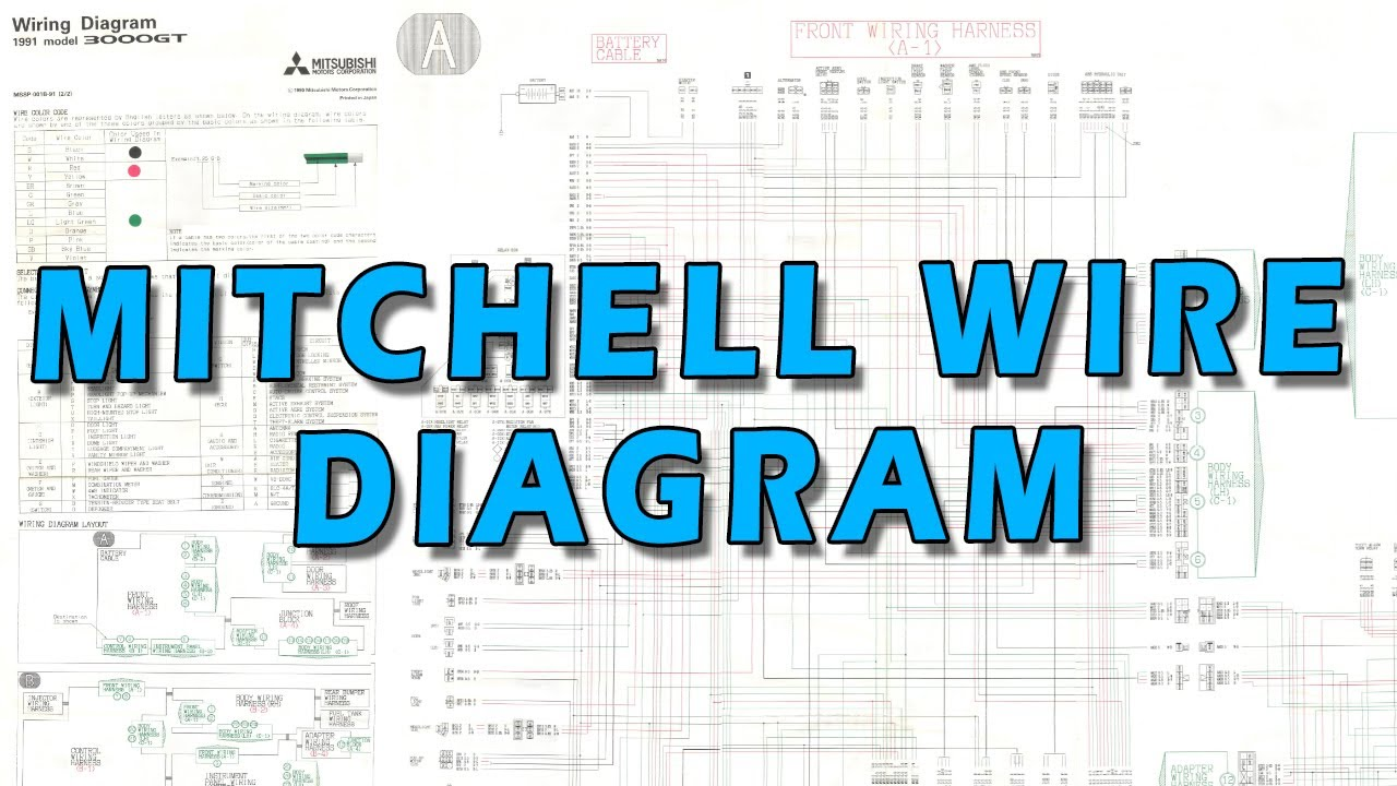 3000GT Mitchell Wiring Diagram - YouTubeYouTube