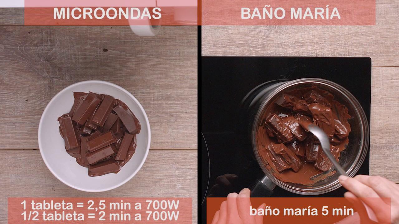 Deshacer Chocolate Al Baño Maria | Como Fundir Chocolate Negro Nestle Postres Youtube