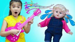Hana Pretend Play w/ Kid Guitar & Violin Music Toy for Kids