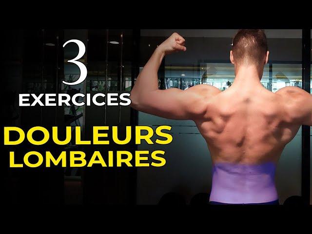 TOP 3 EXERCICES POUR SOULAGER LES DOULEURS AUX LOMBAIRES