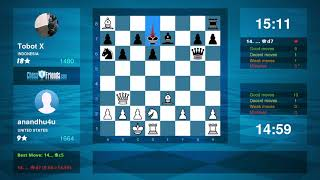 Chess Game Analysis: anandhu4u - Tobot X : 1-0 (By ChessFriends.com)