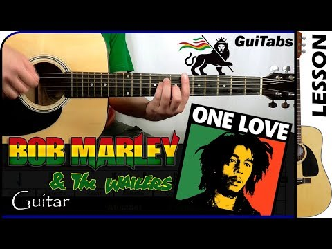 How to play One Love - Bob Marley ✌ / Guitar Tutorial 🎸