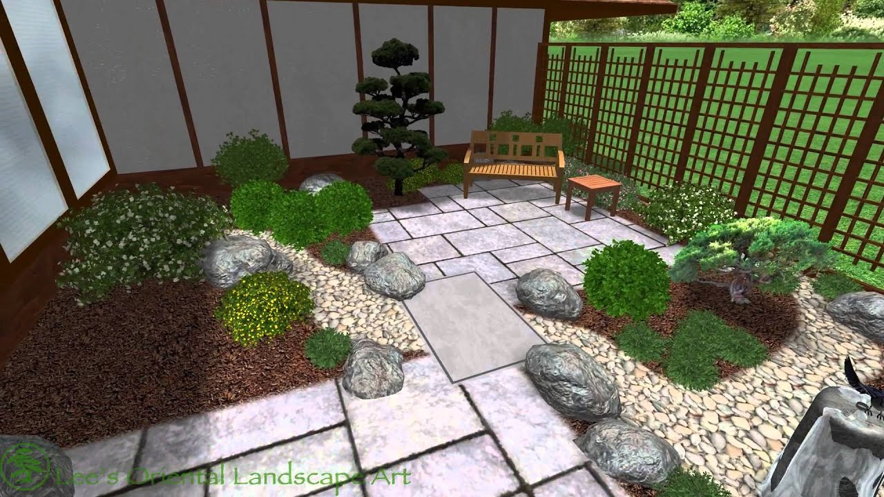 japanese garden design garrett park md back courtyard area