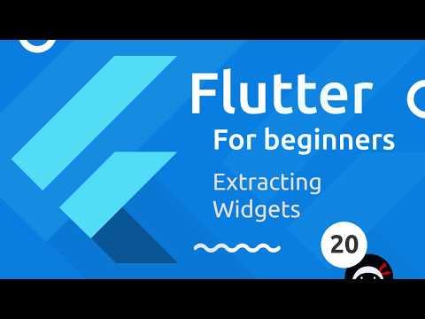 Flutter Tutorial for Beginners #20 - Extracting Widgets