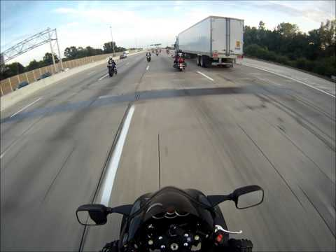 Motorcycle Group ride to downtown Indianapolis - MotoGP Indianapolis 2013