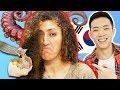 Americans Taste Test EXOTIC Asian Snacks *PUKE WARNING*