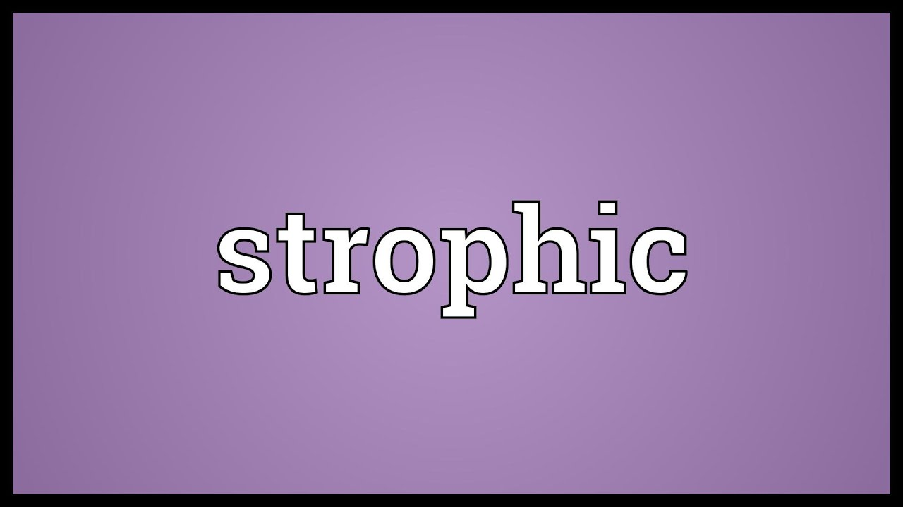 Strophic Meaning - YouTube