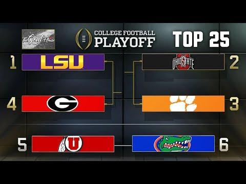 College Football Playoff Rankings Top 25 (Week 15 CFB Poll 2019)