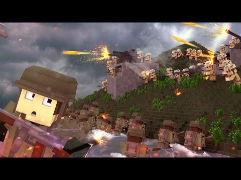 Minecraft | Good vs Evil - WORLD WAR 2: Fort Stevens Siege! (Japan vs USA)
