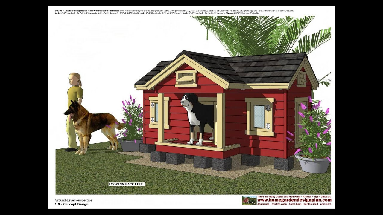 DH302 - Insulated Dog House Plans - Dog House Design - How ... on downloadable house plans, very small house plans, reasonable house plans, preliminary house plans, defensive house plans, colored house plans, passive house plans, compound house plans,
