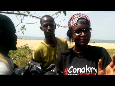 Conakry saine et propre à la plage de camayenne