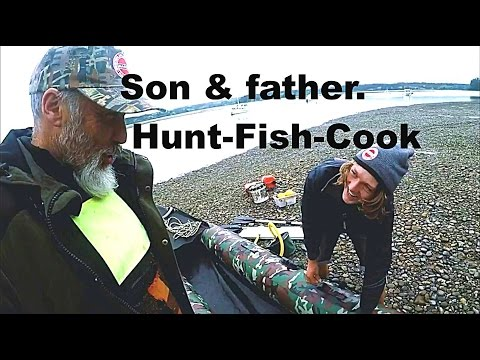 Son & father. Hunt Fish Cook