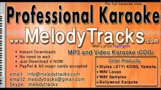 Dus bahane karke legaye dil - Shaan KarAoke - www.MelodyTracks.com