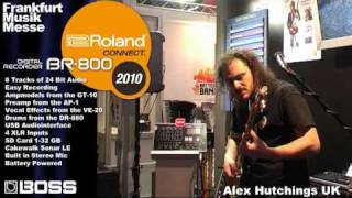 BR-800 Part 1 Digital Recorder  Musikmesse 2010 Booth Demo