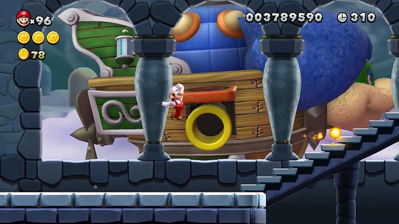 New Super Mario Bros U Walkthrough Part 7 World 7 Meringue