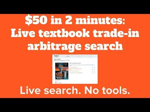 Amazon trade-in credit arbitrage: $50 in 2 minutes (with no tools) - live textbook search
