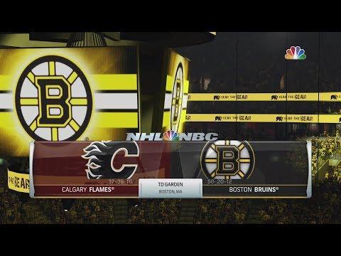 NHL 19 Gameplay - Calgary Flames vs Boston Bruins