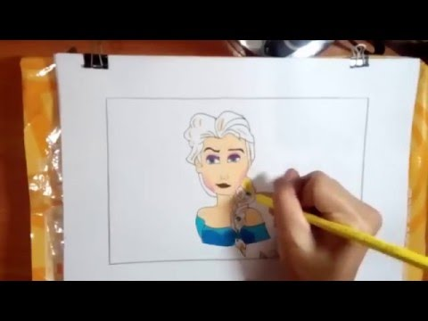 เอลซ่า วาดภาพระบายสี,elsa drawing