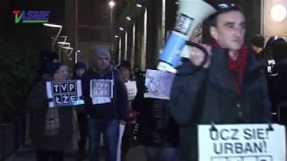 """Fani """"publicznej"""" telewizji pikietują już drugi miesiąc jej siedzibę! - reportaż z pikiety"""