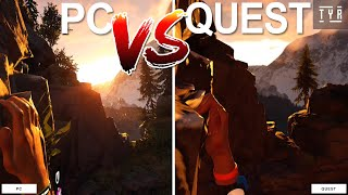 Oculus Quest VS PC - THE CLIMB - Graphics side-by-side Comparison