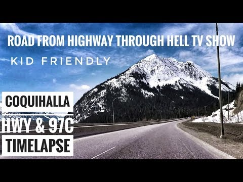 Driving Time Lapse on Highway Through Hell Coquihalla Highway Kelowna to Greater Vancouver