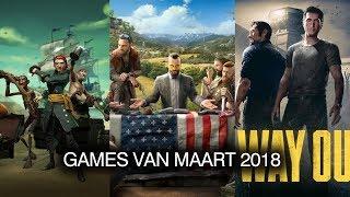 Xbox games van maart 2018