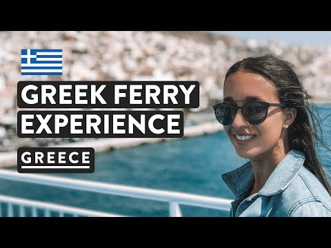 GREEK FERRIES - PRICES & SEATS  | Athens to Mykonos, Hellenic Seaways | Greece Travel Vlog