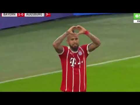 Gol de Vidal Bayern Munich vs Augsburgo