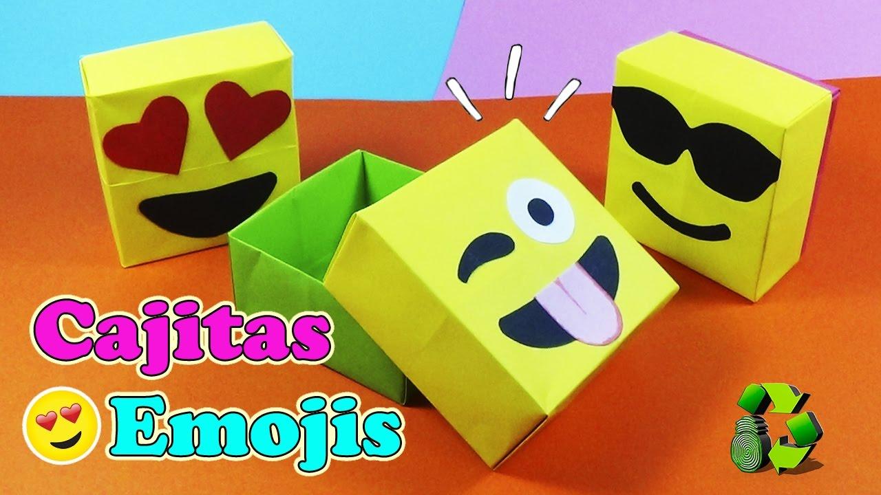 Diy cajas dulceros emojis con origami ecobrisa diy youtube - Manualidades con papel de colores ...
