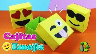 DIY Cajas/Dulceros Emojis con Origami - Ecobrisa DIY