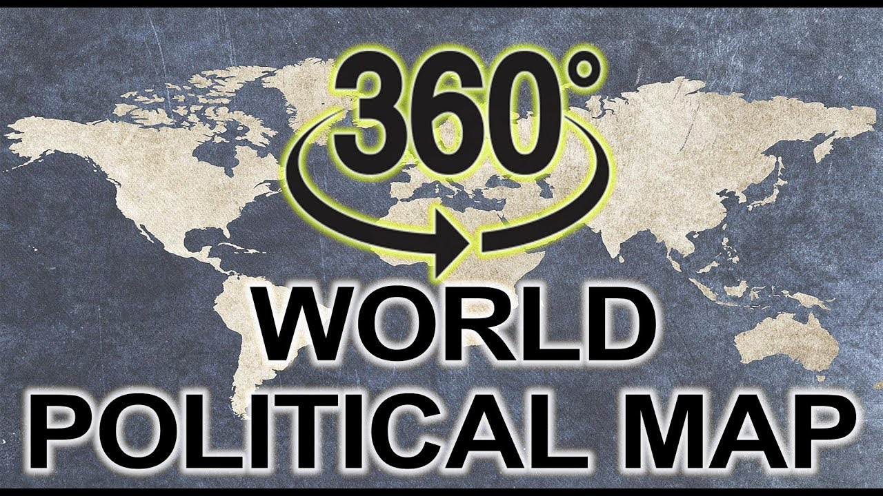 360 Degree World Map.World Political Map 360 Degree Video It Can Rotate Youtube