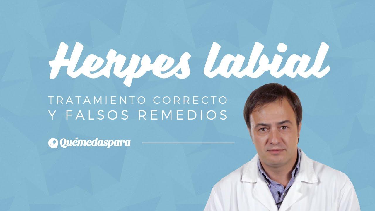Cura natural labial herpes
