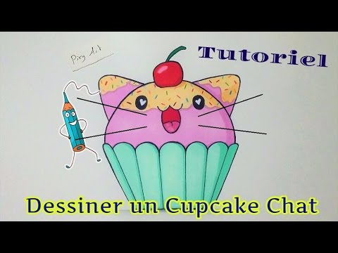Dessiner un cupcake chat kawaii tutoriel facile youtube - Chat facile a dessiner ...