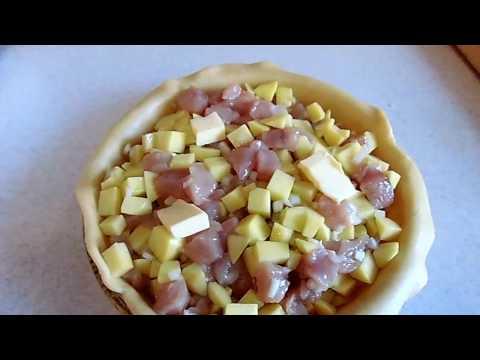 Как сделать курник с картошкой и курицей