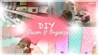 diy room decor and organization desk украшение комнаты и организация рабочего стола ikea икея